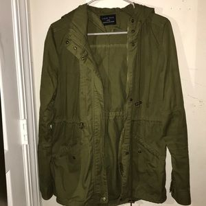 Olive Green Jacket (oversized on small)
